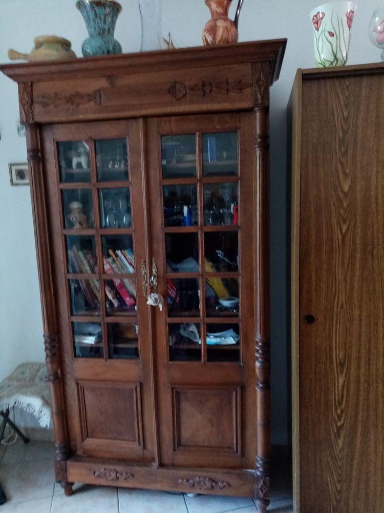 Bibliothèque ancienne en chêne 100 Noyelles-Godault (62)