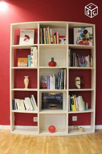 Achetez biblioth que blanche occasion annonce vente paris 75 wb150202953 - Meuble bibliotheque habitat ...