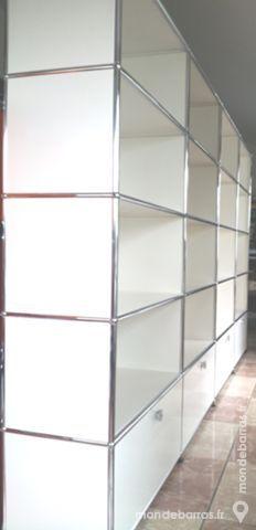 bibliothèque blanche usm haller à 20 cases 4190 Chenoise (77)