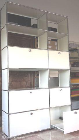 Bibliothèque blanche usm haller à 12 cases 6 porte 3500 Chenoise (77)