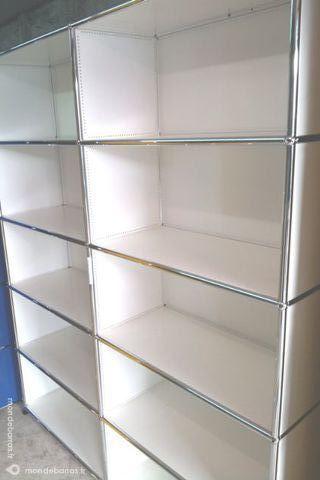 Bibliothèque blanche usm haller à 10 cases ouverte Meubles