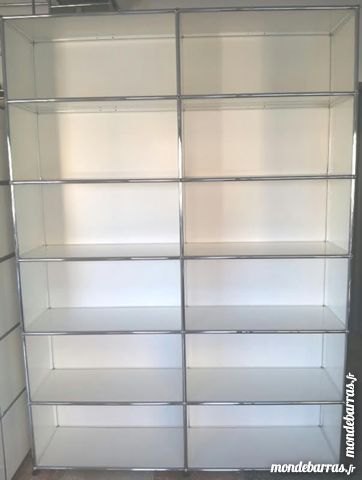 Bibliothèque blanche usm haller 12 cases avec fond 1995 Provins (77)