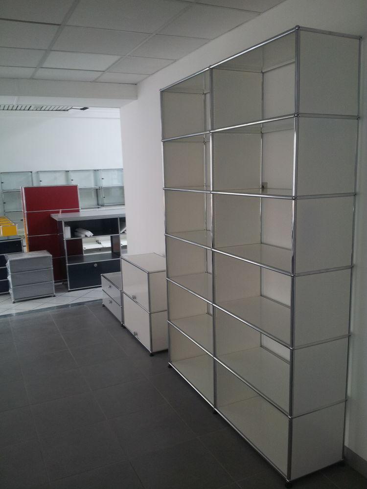 Bibliothèque blanche usm haller 12 cases sans fond 1995 Provins (77)