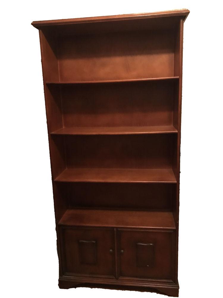 Bibliothèque étagères en bois teinté  200 Bassens (33)