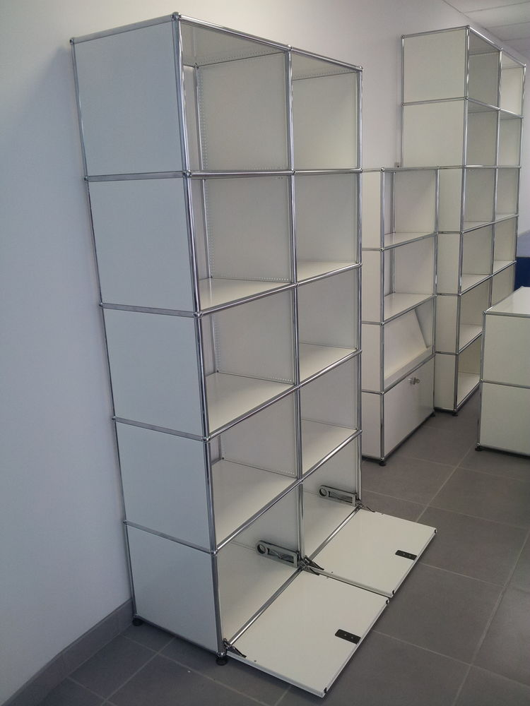 Bibliothèque usm haller 10 cases 2 portes abattantes 1900 Provins (77)