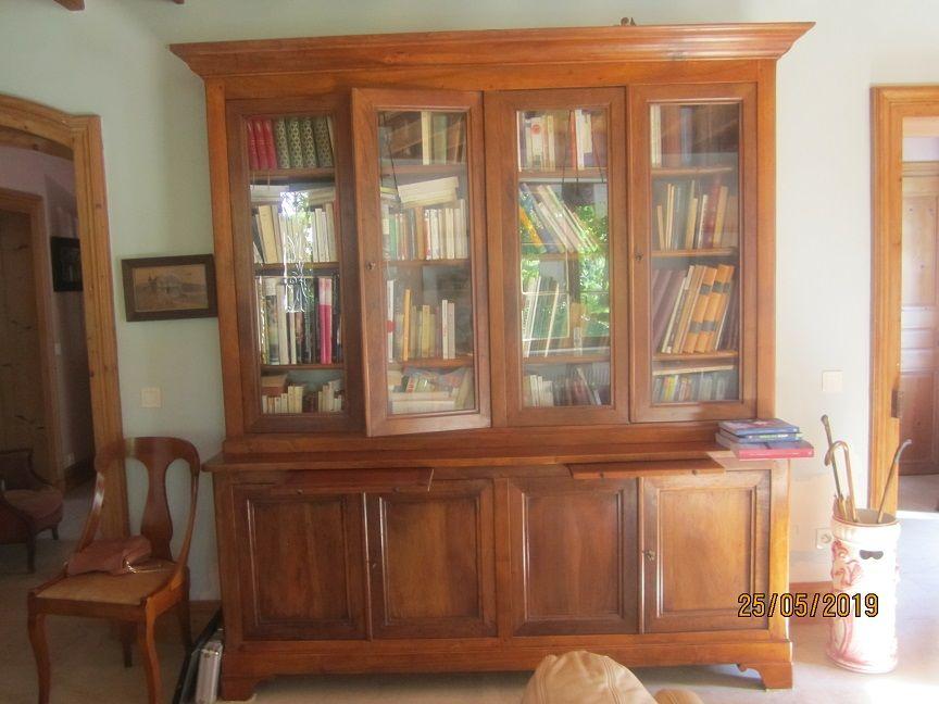 Bibliothèque noyer massif  0 Chaponost (69)
