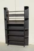 Bibliothèque ouverte , bibus en bois teinté en  noir 250 Paris 15 (75)