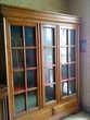 Bibliothèque 3 Portes-2 Tiroirs en Merisier massif