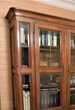 Bibliothèque style Charles X merisier deux corps 4 portes Meubles