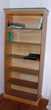 2 BIBLIOTHEQUES EN BOIS de pin vernis liseré vert  Meubles