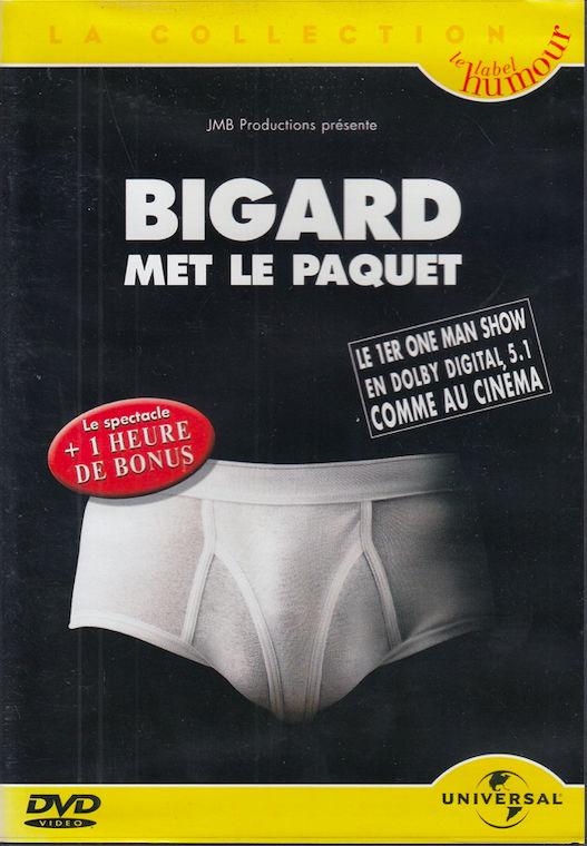 DVD  Bigard Met Le Paquet   -   Enregistré au Bataclan Paris 3 Antony (92)