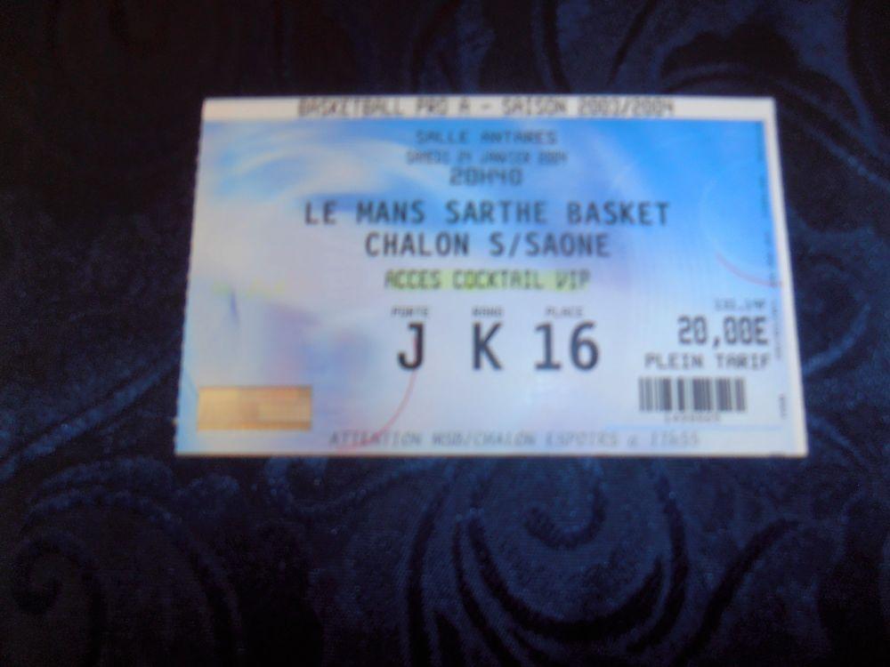 Billet de Basket - LE MANS/CHALON (45) 5 Tours (37)