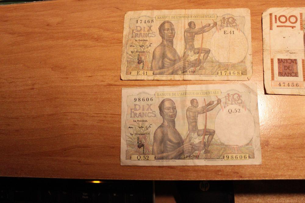 2 billet de 10 francs afrique occidentale  20 Cambounès (81)