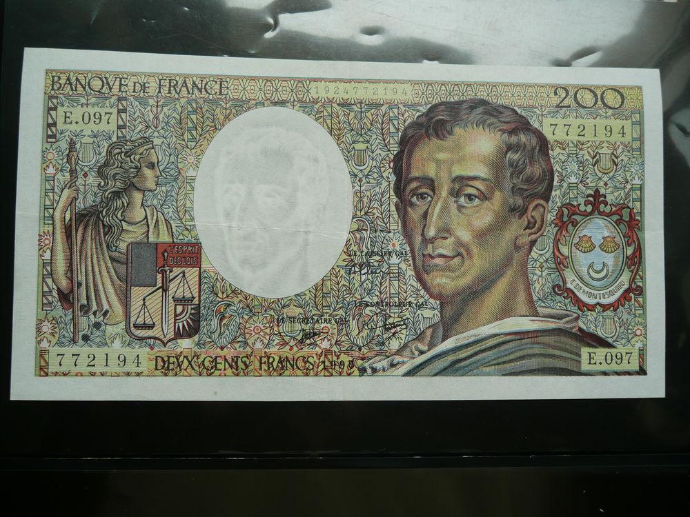 Billet 200 francs Montesquieu  30 Bordeaux (33)