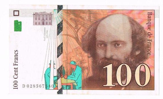 Billet de 100 Francs Paul Cézanne 0 Troyes (10)