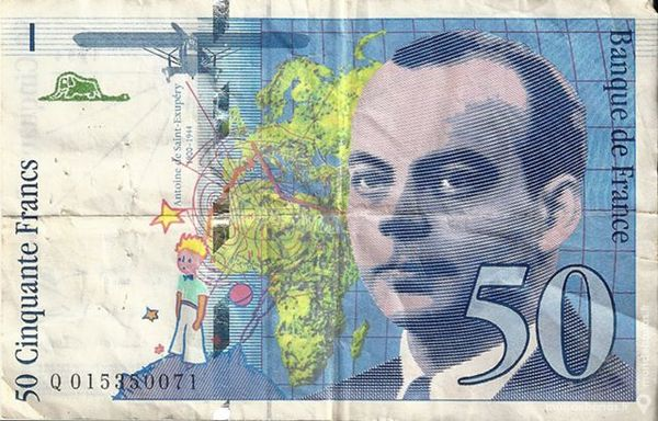 Billet 50 Francs Saint Exupéry 15 Manosque (04)