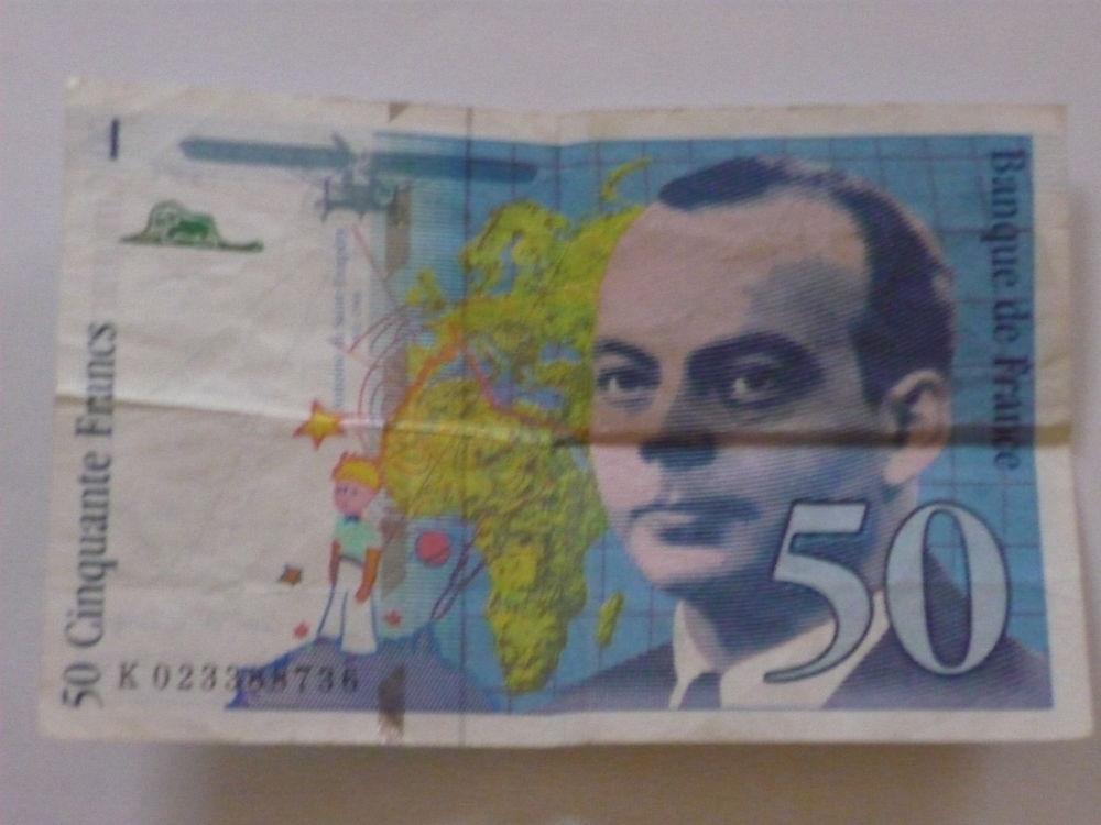 Billet 50 Frcs St Exupéry 0 Cléon (76)