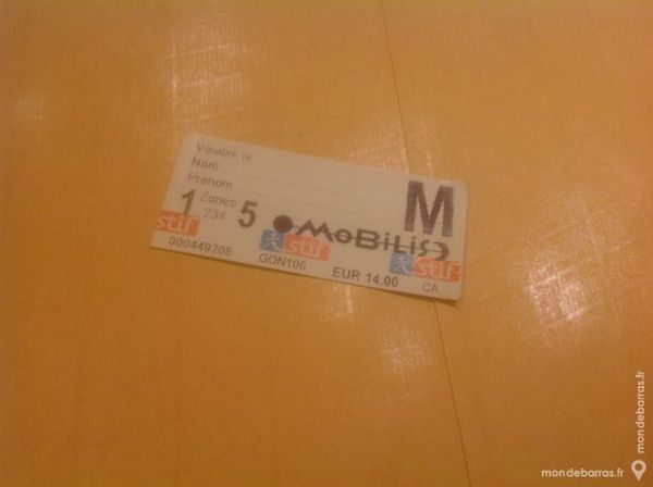 Billet SNCF/RATP 14 Neuilly-sur-Seine (92)