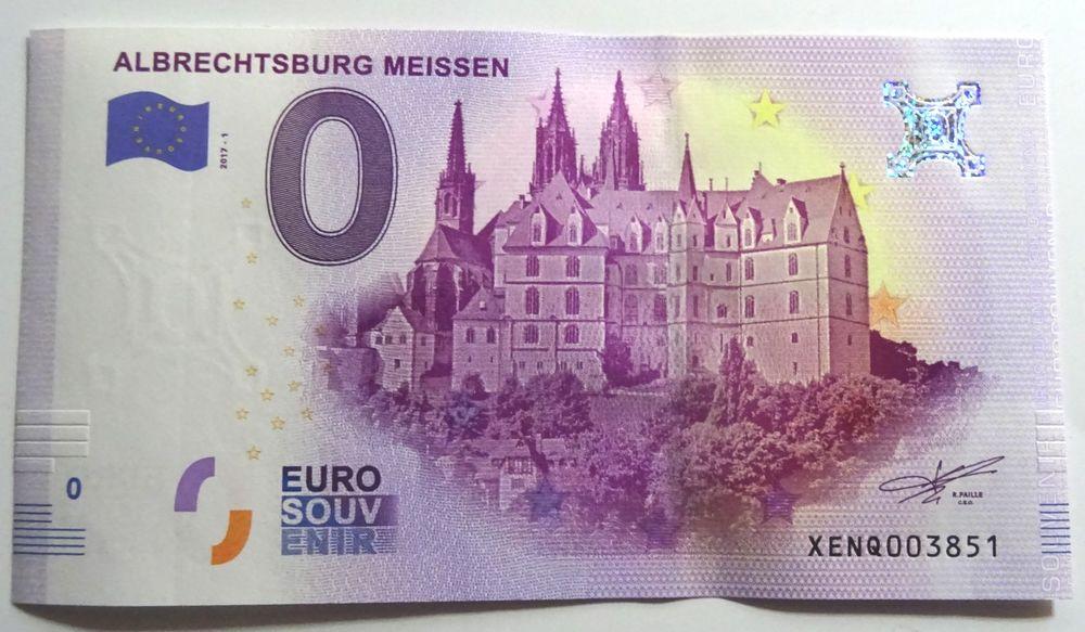 Billet souvenir zéro euro   Albrechtsburg Meissen  2017-1 3 Haguenau (67)