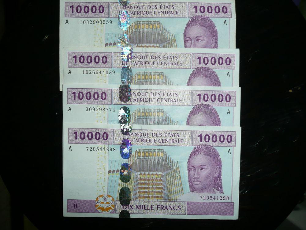Lot de 4 billets de 10 000 francs états d'Afrique 160 Bordeaux (33)