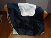 sac bleu marine et blanc en tissus avec cordelière côté neuf 0 Mérignies (59)