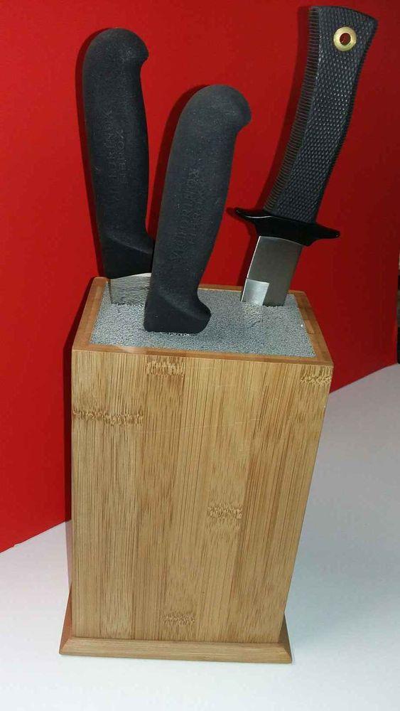 bloc porte couteaux 10-20 pièces en bambou   80 Saumur (49)