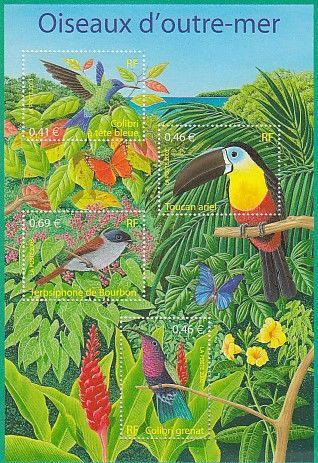 Bloc timbres France YB56, 2003, oiseaux d'outre-mer 3 Lens (62)