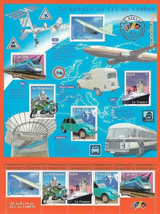 Bloc timbres France YB47 - Le siècle au fil du timbre n°5 5 Lens (62)
