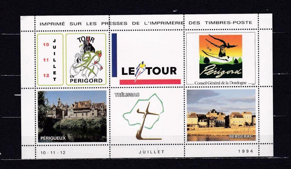 Bloc sur le TOUR de FRANCE Cycliste 1994 4 Les Églisottes-et-Chalaures (33)