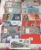 Blocs Souvenirs Lot 13 feuillets seuls pour collection 30 Joué-lès-Tours (37)