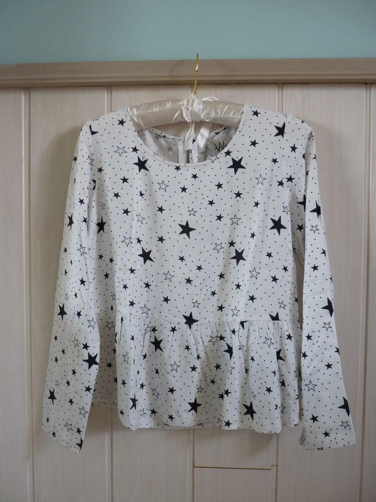 blouse IKKS 12 ans fille TBE noir/blanc étoiles 10 Brienne-le-Château (10)