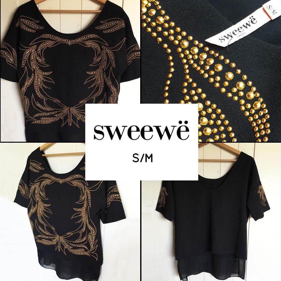 Blouse noire et dorée SWEEWË S/M Vêtements
