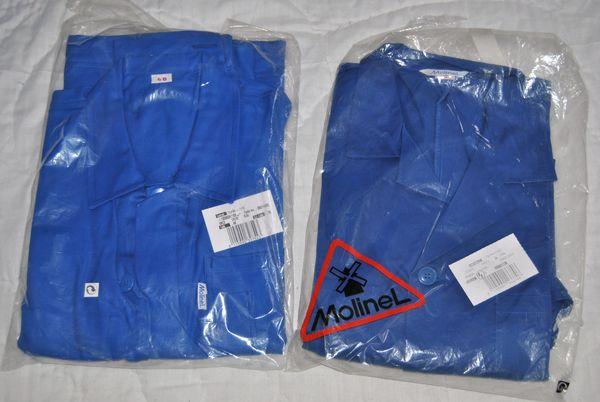 lot de 3 blouses de travail  en coton et polyester/coton 40 Saint-Lambert-du-Lattay (49)