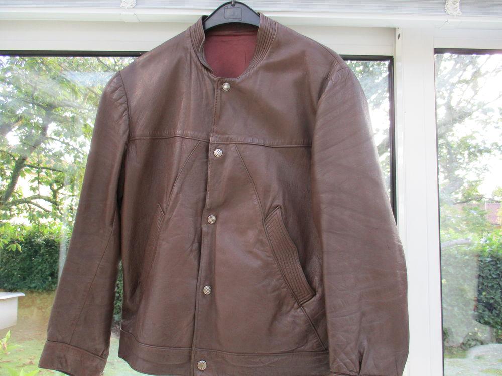 Blouson  cuir marron homme Taille L 40 Sathonay-Village (69)