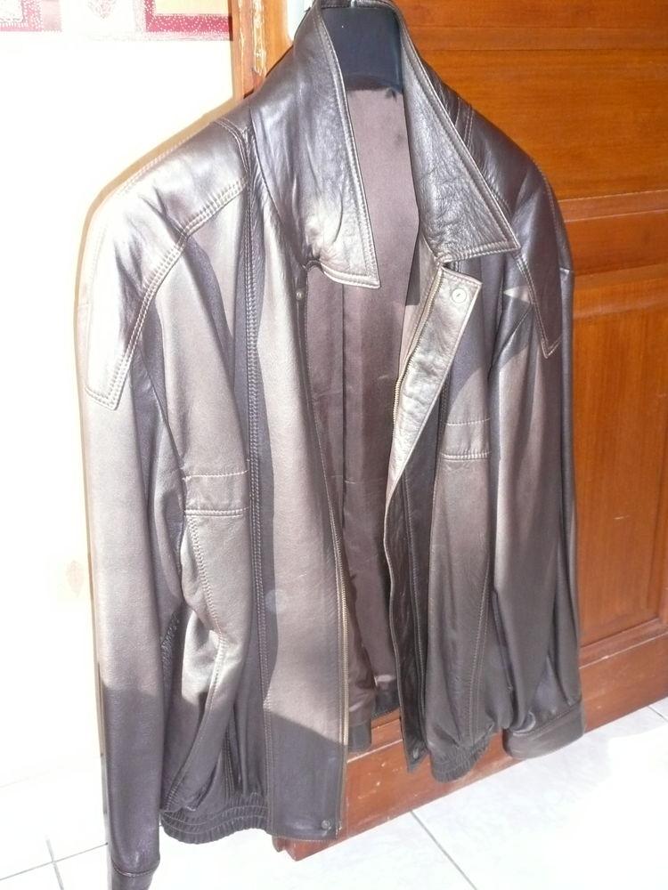 blouson cuir marron 20 Tarnos (40)
