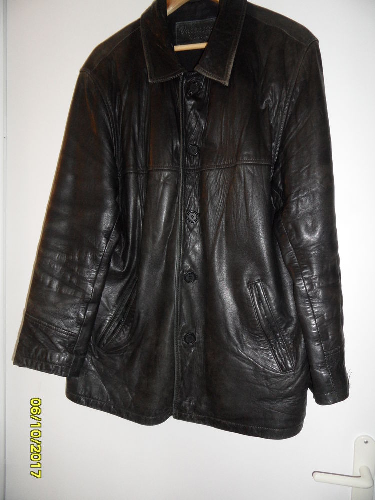 blouson cuir noir  50 Angers (49)