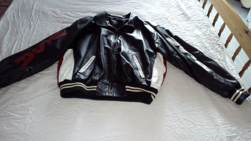 blouson cuir noir homme 60 Allaines-Mervilliers (28)