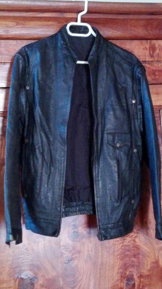 Blouson cuir noir 30 Legé (44)