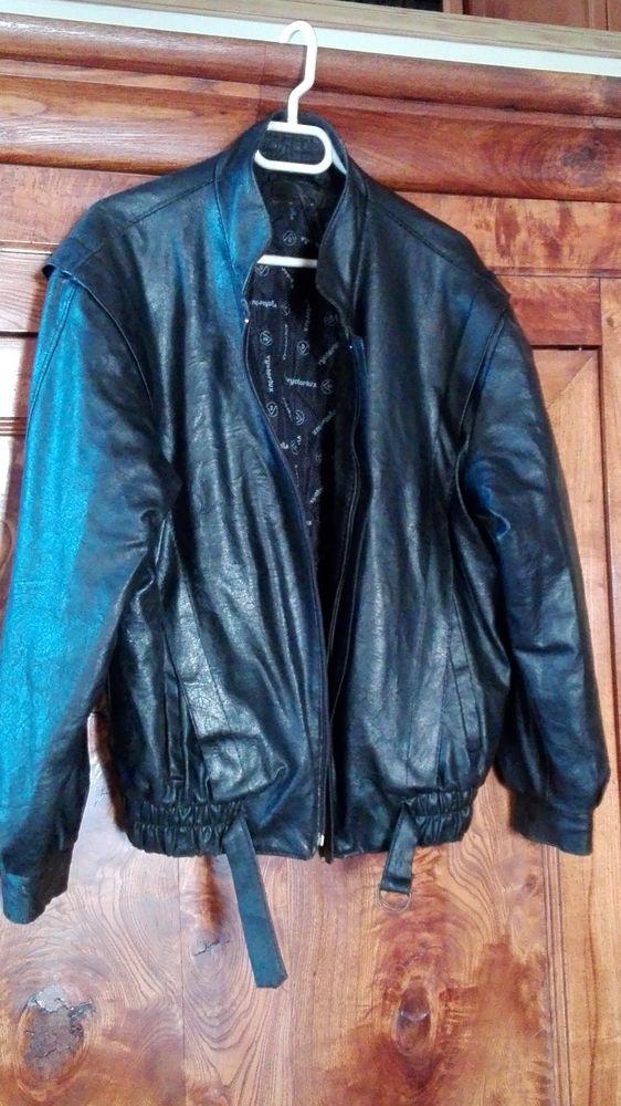Blouson cuir noir perfecto 30 Legé (44)