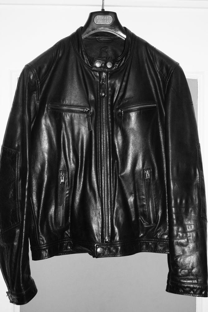Blouson cuir noir homme redskins