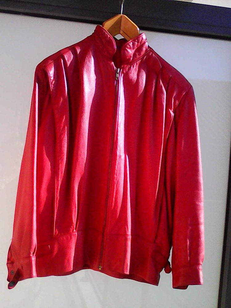 blouson cuir rouge 50 Basse-Goulaine (44)