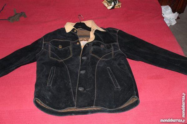 •Blouson daim, cuir véritable Vêtements
