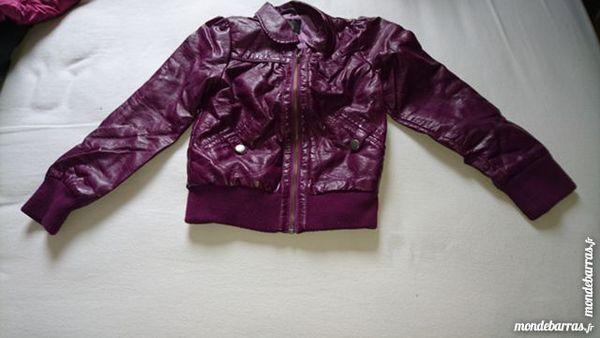 Blouson fille 6-7 ans aspect cuir Vêtements enfants