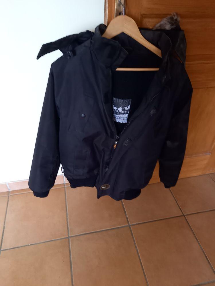blouson homme noir peu servi noir Vêtements