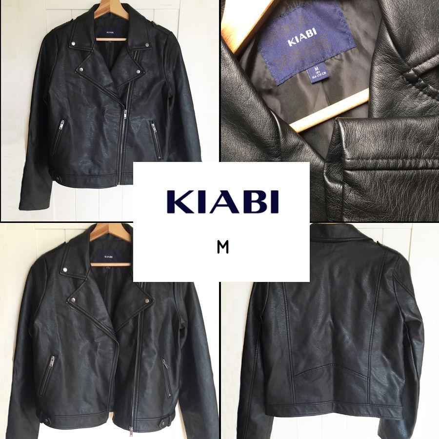 Blouson noir style perfecto KIABI M 24 Marcq-en-Barœul (59)