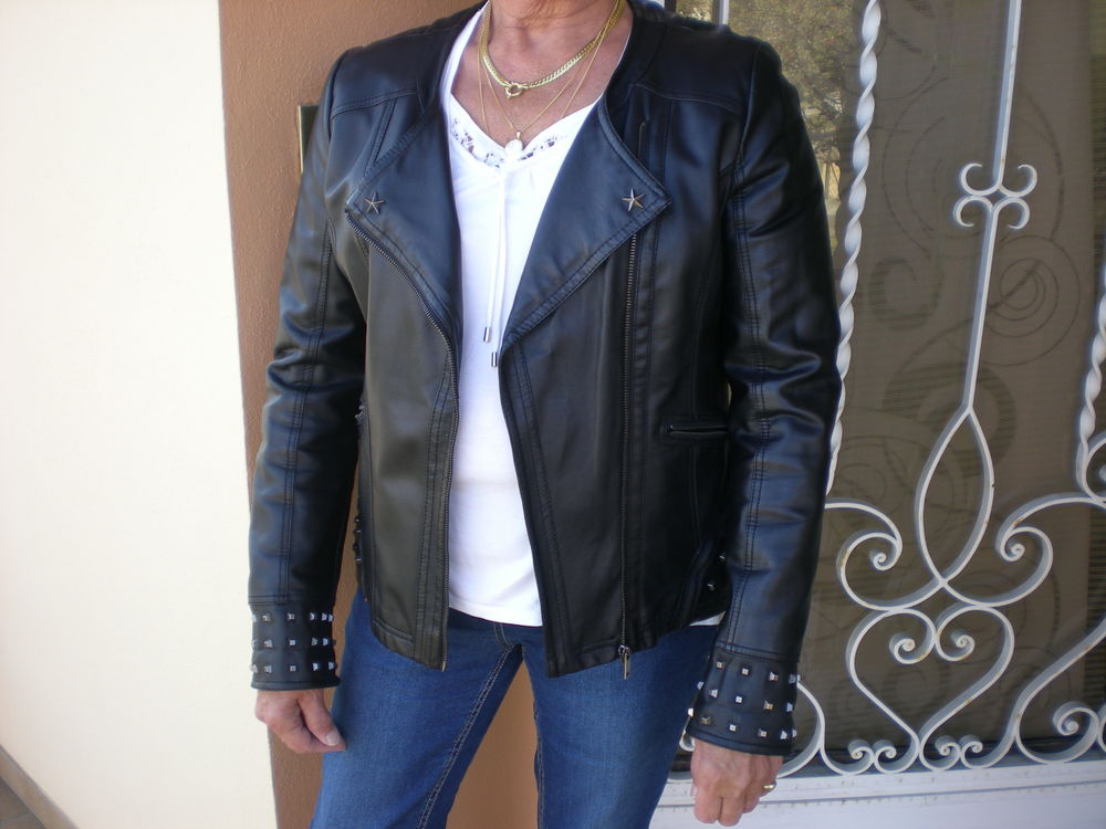 Blouson simili-cuir noir femme 8 Rhinau (67)