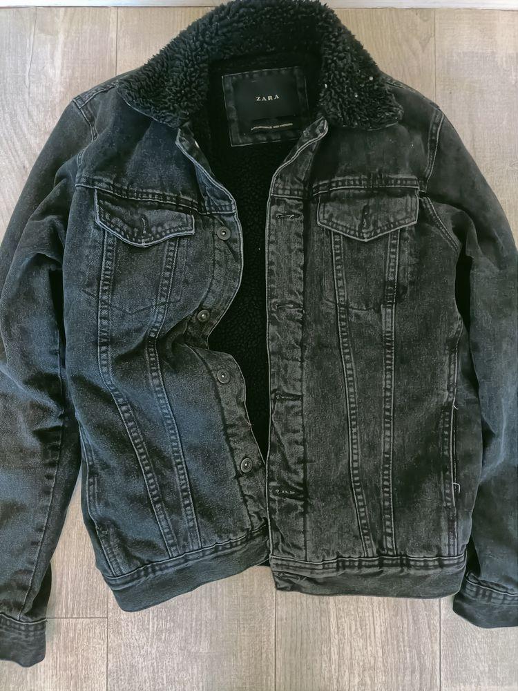 blouson/veste en jean noir Zara 25e 25 Poitiers (86)