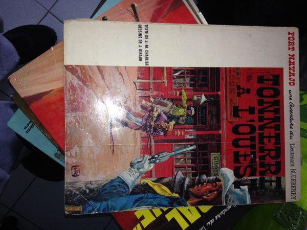 BD BLUEBERRY TONNERRE A L OUEST 1966 45 Villeneuve-Loubet (06)