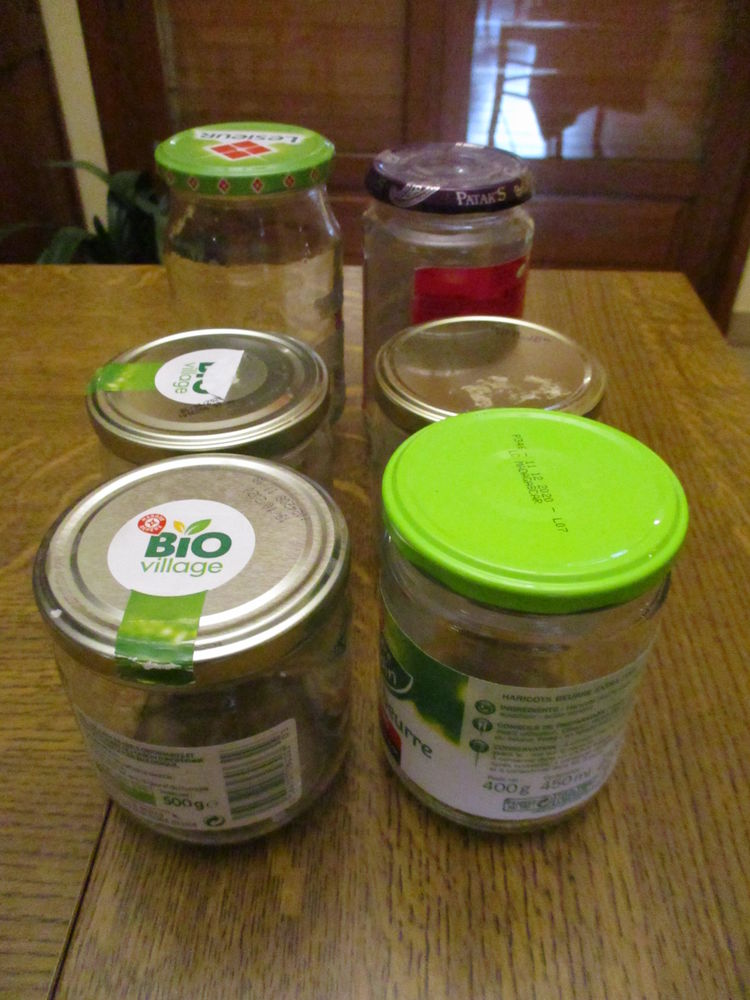 lot de 6 bocaux ou pots en verre pour confiture 500 grammes 0 Mérignies (59)