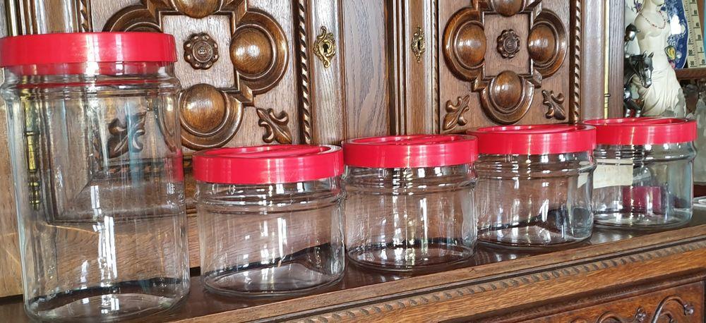 5 Bocaux en verre épais  35 Saint-Nicolas-de-Sommaire (61)